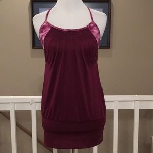 The North Face maroon/pink tank top Size XS